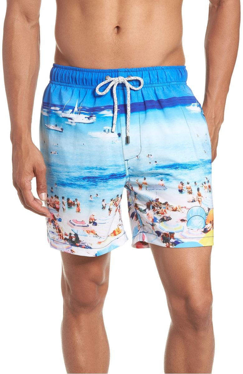 Men/'s Swim Trunks Beach Board Swimwear Shorts Beautiful Sea World Swimming Short Pants Quick Dry Water Shorts Mesh Lining