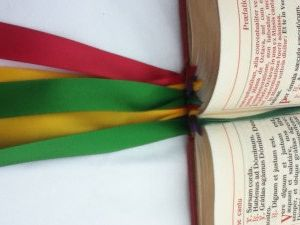 Altar Missal Replacement Ribbons by LeatherMissalCovers on Etsy