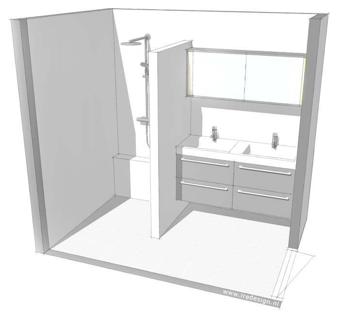 Kleine badkamer inspiratie woontrendz small bathroom kleine badkamer pinterest for Plan kleine badkamer