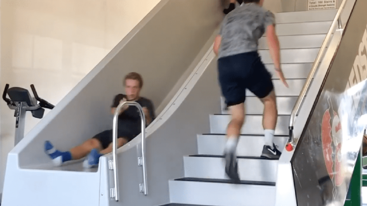 This Stair Slide Invention Makes Working Out A Little More Fun Stair Slide Slide Workout Workout