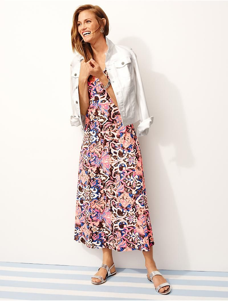 Casual Jersey Maxi Dress Abstract Blossoms Talbots Maxi Jersey Dress Maxi Dress Dresses [ 1057 x 800 Pixel ]