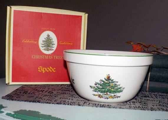 Vintage (1986) Spode Christmas Tree S3324 Serving Bowl Christmas
