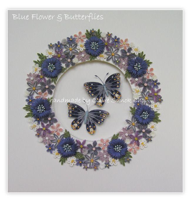 blue flower & butterflies(콘플라워 & 블루 나비) : 네이버 블로그