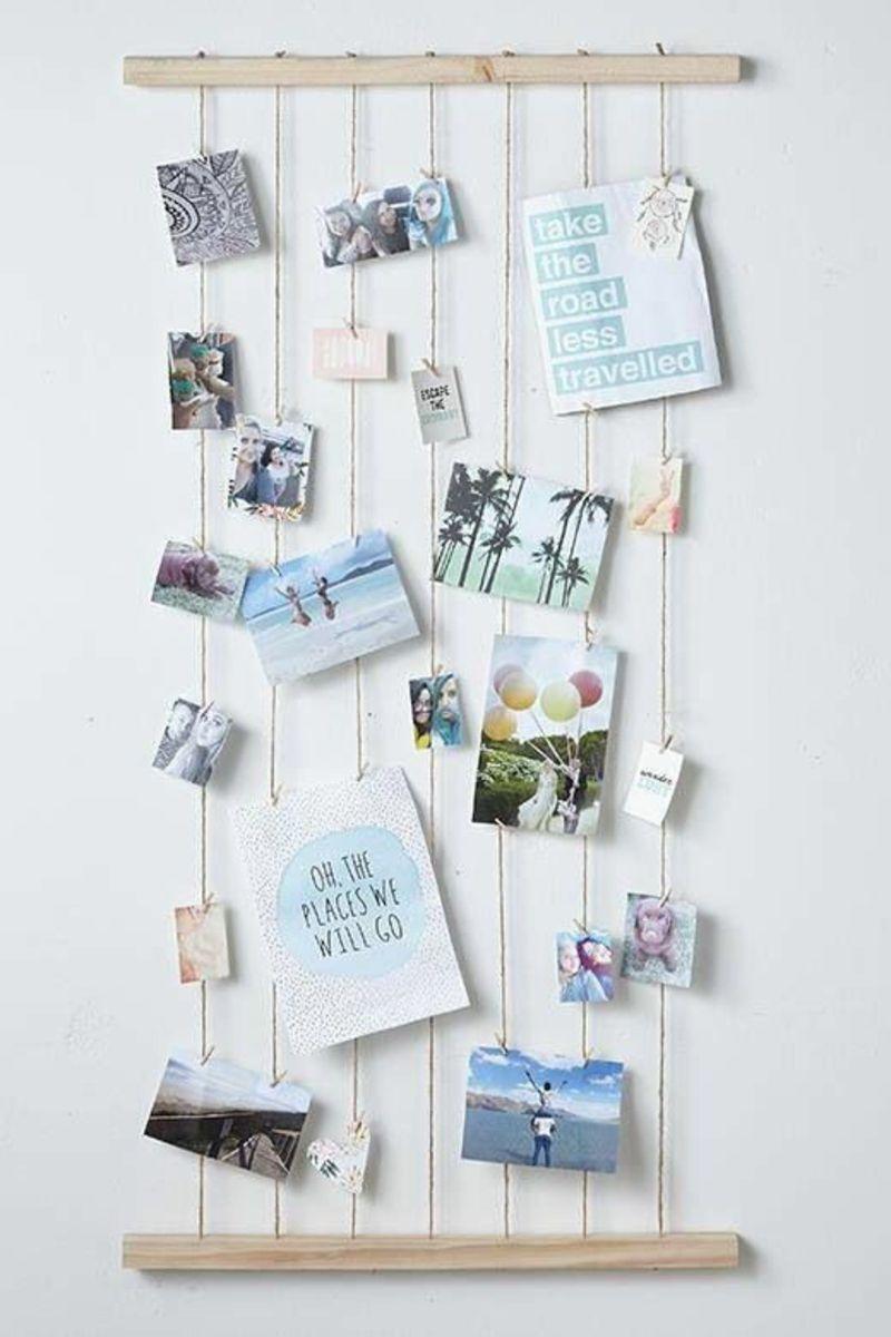 Schlafzimmer Deko selber machen: 48 Ideen | Postkarten wand ...