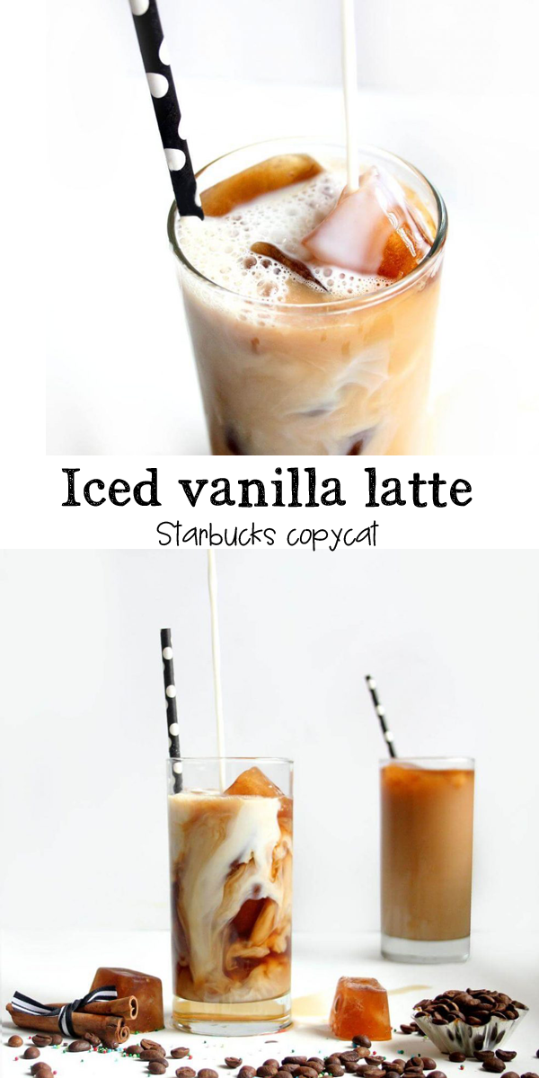 How to make a STARBUCKS COPYCAT iced vanilla latte at home