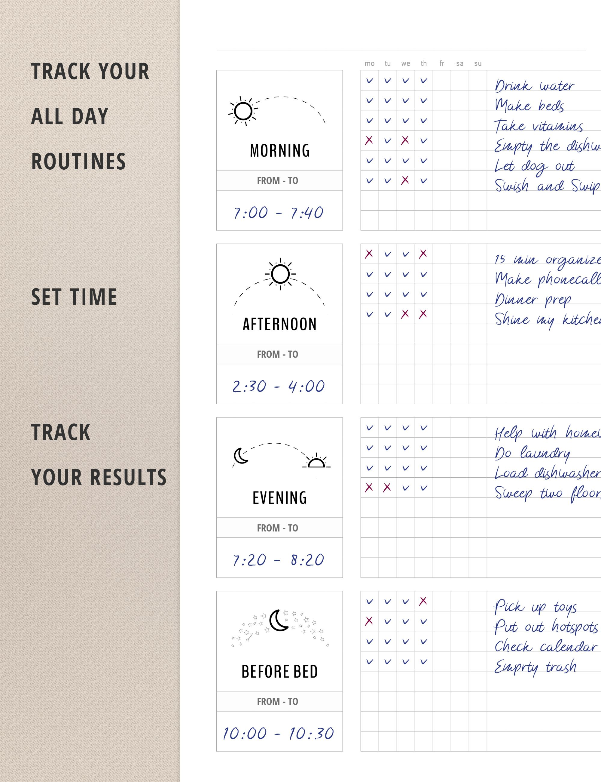 graphic about Morning Routine Flylady Printable identify Day-to-day Timetable / Flylady Early morning Agenda Listing / Pattern