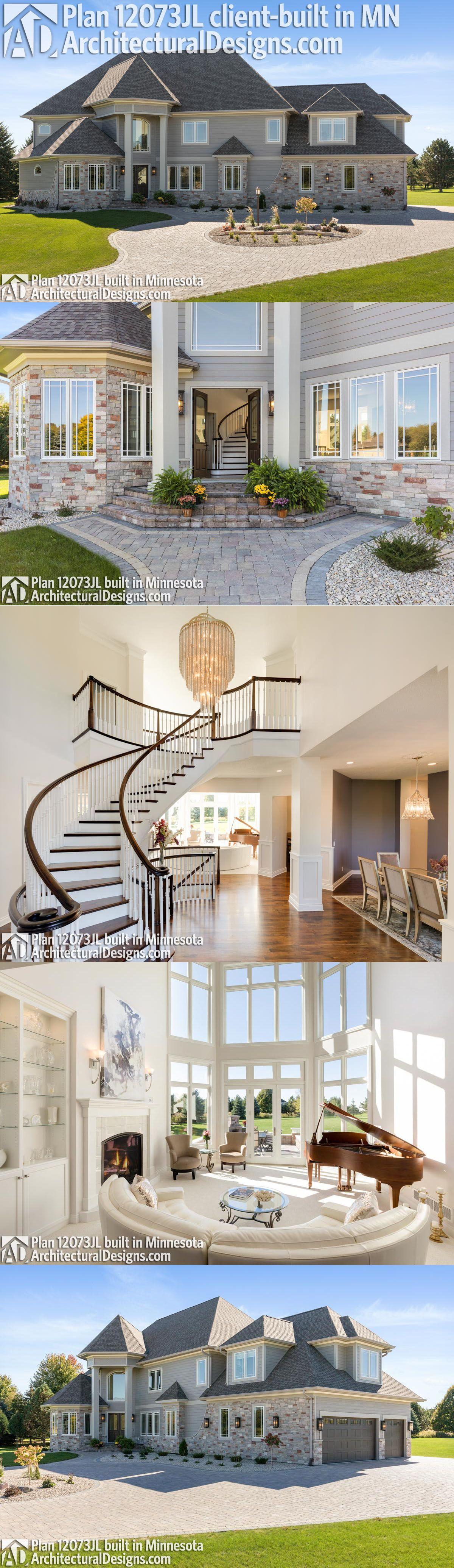 Plan 12073jl Luxury Home Plan With Elegant Interior Architectural Design House Plans Luxury House Plans House Design