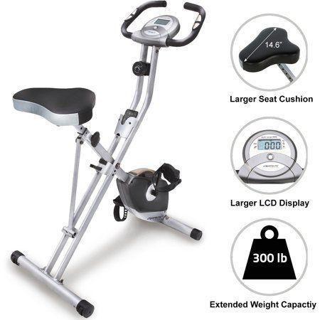 Exerpeutic Magnetic Upright Exercise Bike with Heart Pulse Sensors, Blue #exercisebikewalmart