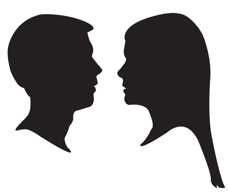 custom profile silhouettes 40 00 via etsy rh pinterest com female face silhouette vector woman face silhouette vector