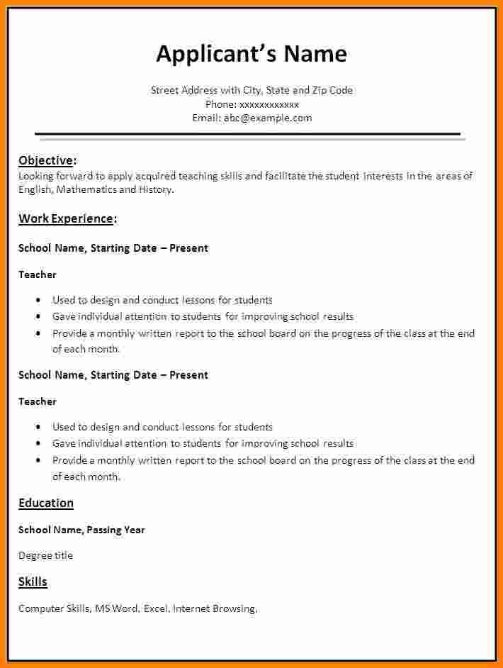 best resume format word free download teacher templateg templates - resume format in word document free download