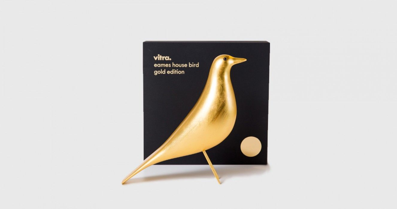 Eames House Bird In Gold Limited Edition Vitra Eames House Bird Vitra Eames