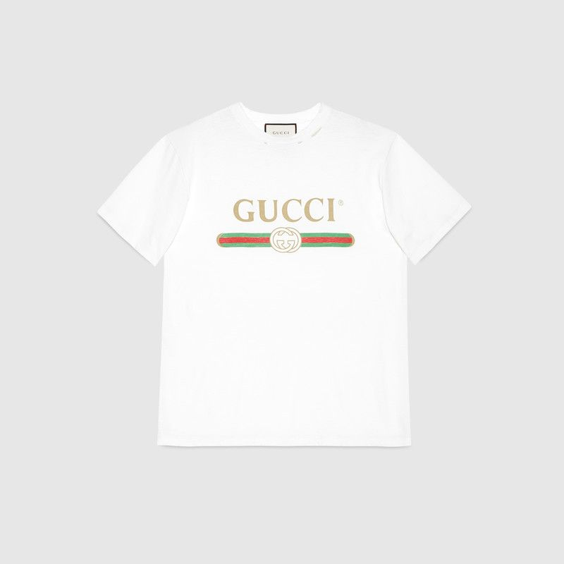 11bfe5a63696 Oversize T-shirt with Gucci logo in 2019 | My Gift Want List ...