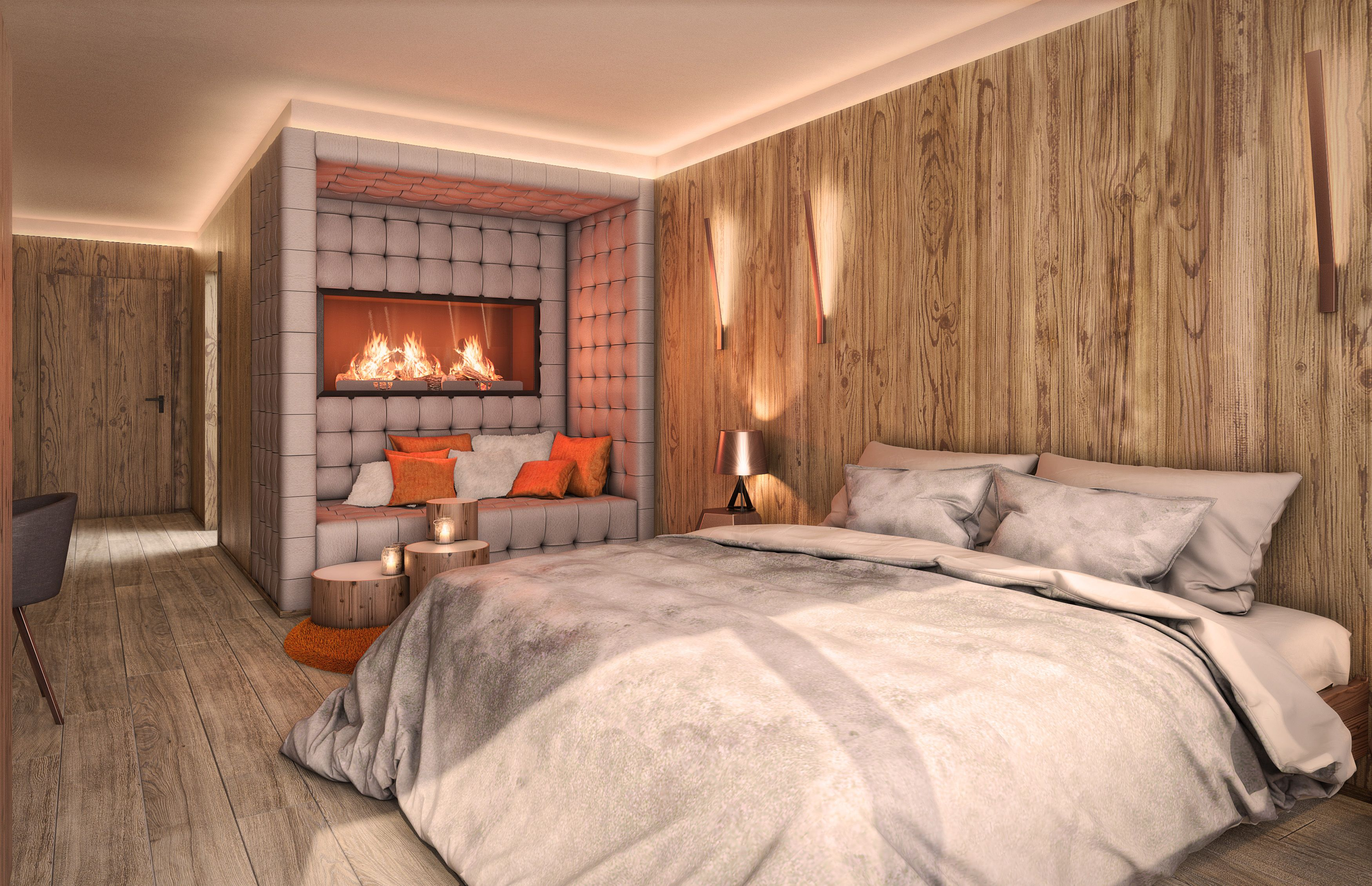 New suite type Bergfeuer @LINDERHOF from May 2016! #mountainfire #suite #new #hotel #luxury #wood #architecture