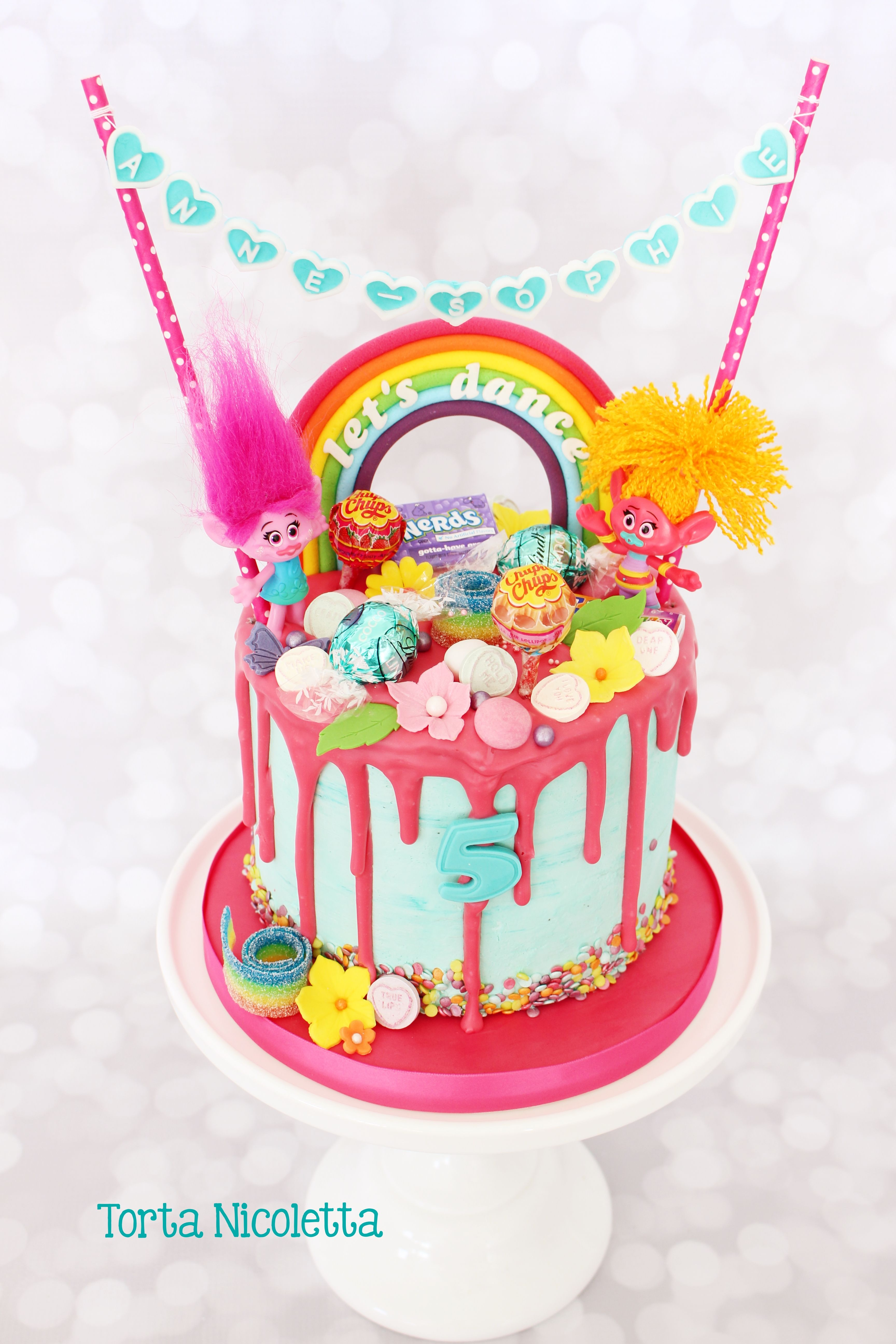 How to make a drip cake to wow the party trolls cake