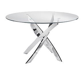Tavoli In Cristallo E Acciaio.Tavolo In Vetro E Acciaio Amy 110x75 Cm Tavoli Tavoli Da