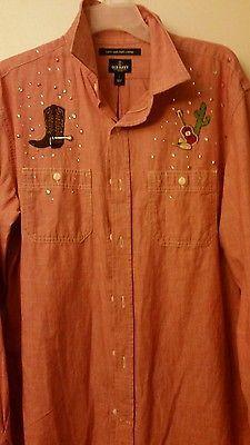 Men's Western long sleeve shirt. Lg