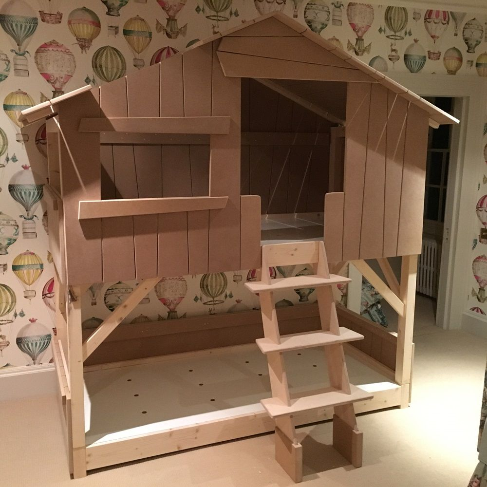 Kids Treehouse Bunk Bed In Natural Pine Mdf Detskaya Pinterest