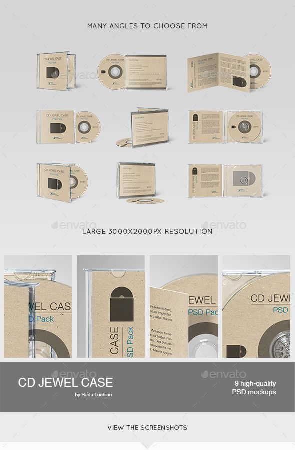 Cd Jewel Case MockUps  Mockup Font Logo And Flyer Template
