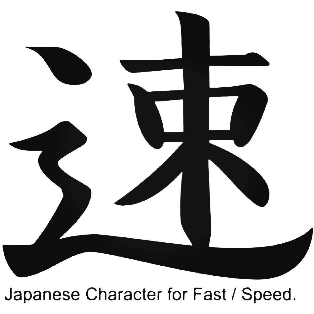 Japanese character for fast or speed jdm car decal sticker japanese biocorpaavc Image collections