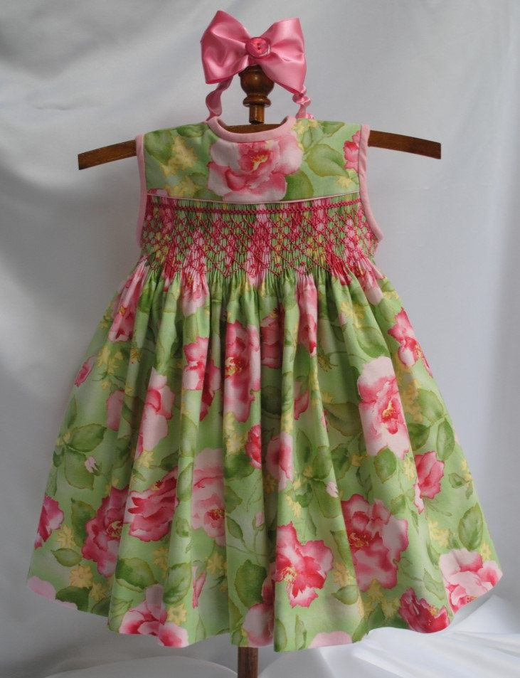 Paris Rose Hand Smocked Baby Dress 6 months by ...