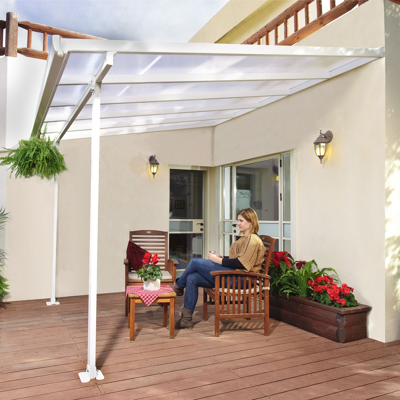 Shop Palram Canada Feria 10 ft x 10 ft Patio Cover at Lowe s
