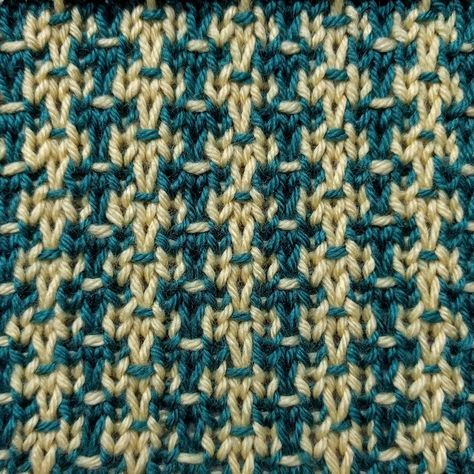 The Speckled Tweed stitch is a multi-colored slip stitch ...