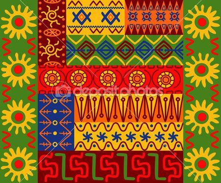 Этнические узоры и орнаменты — Векторная картинка #7578715 ...