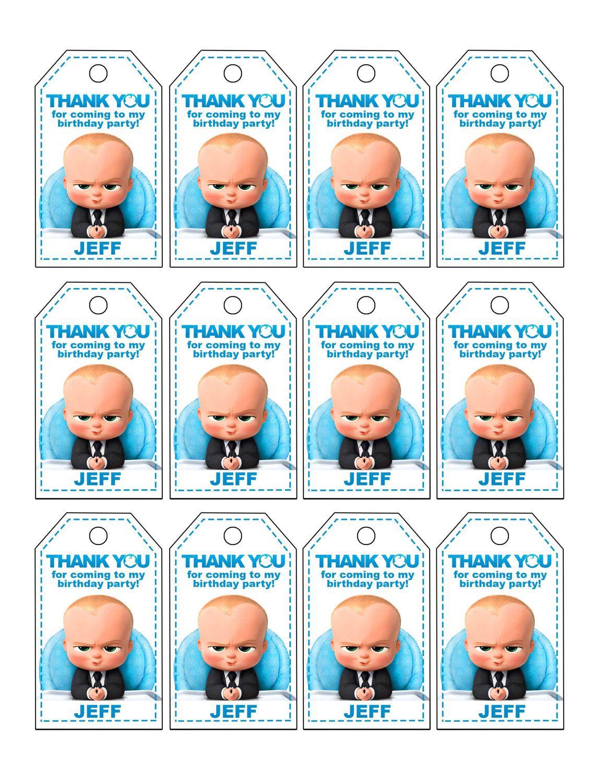 Baby boss gracias tags etiquetas baby boss a favor