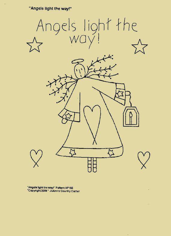 "Primitive Stitchery Pattern Snowman by Day Monday /""Monday Wash/"""