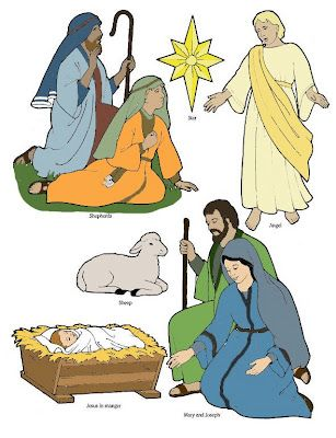 Birth of Jesus printable cutouts | Bible: Jesus & His Birth ...
