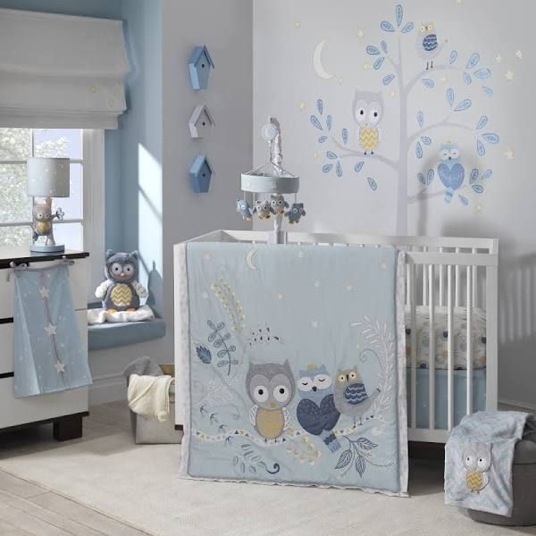 Blue Owl Nursery Bedding