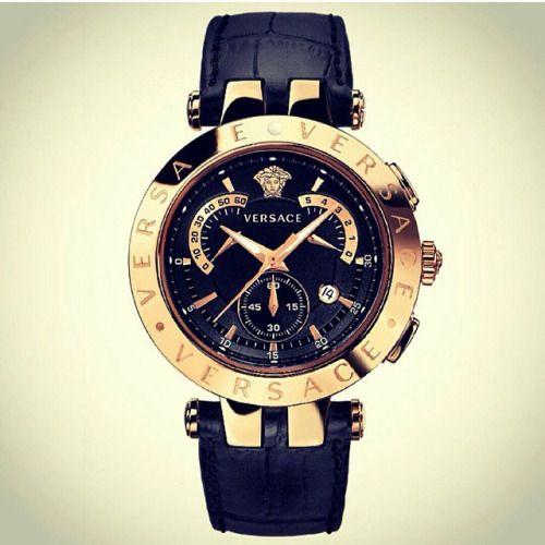 Bohemian Lifestyle Versace Watch Black And Gold Watch Versace Jewelry