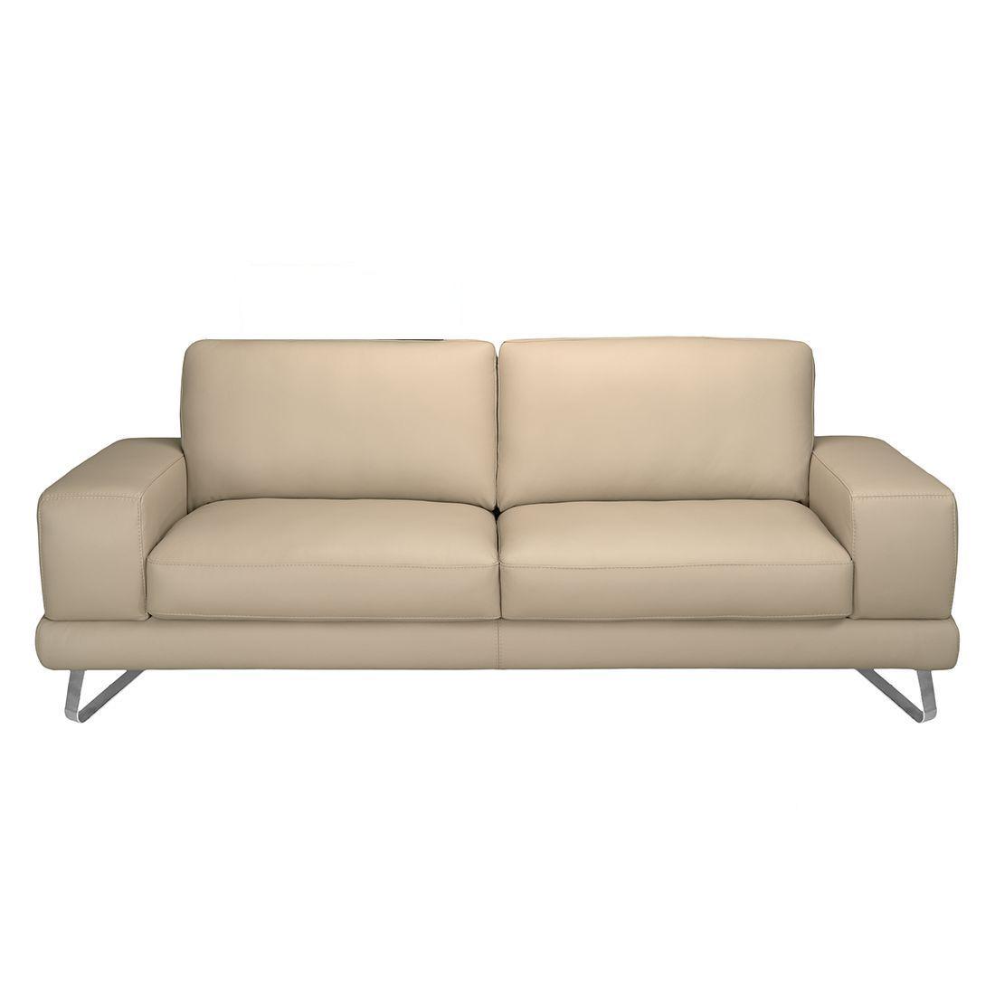 Sofa Bradley 3 Sitzer Echtleder Beige Sofa Mit Relaxfunktion Couch Mit Schlaffunktion Sofas
