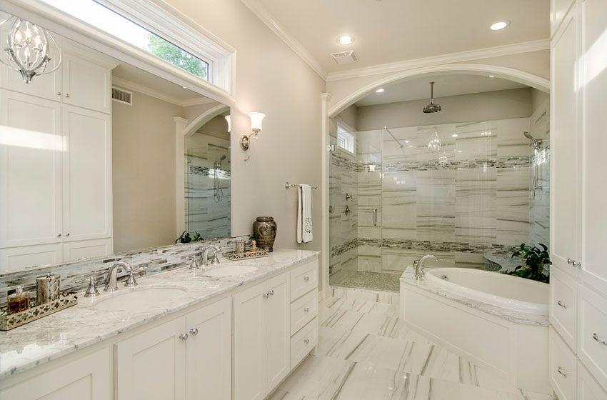 63 Luxury Walk In Showers Design Ideas  Transitional Bathroom Classy Bathroom Crown Molding Inspiration