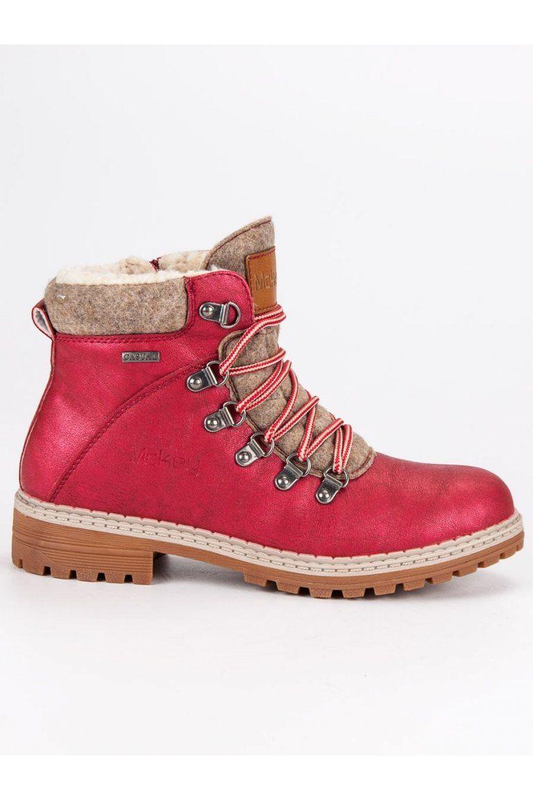 93adeaa076d8 Červené trapery topánky s výrazným viazaním McKey