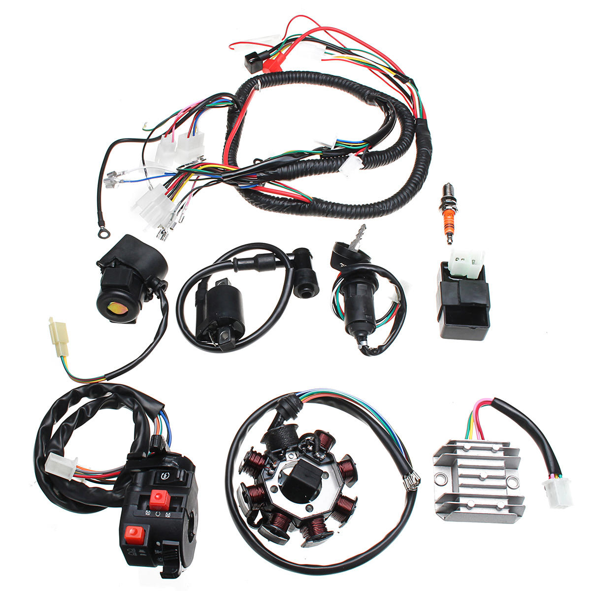 Electric Wiring Harness Wire Loom Cdi Motor Stator Full Set For