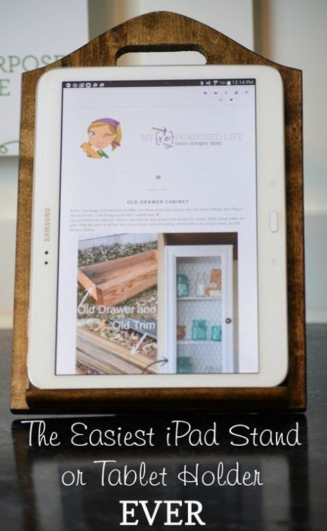 iPad stand | easy Thrift Store Decor project - My Repurposed Life® Rescue Re-imagine Repeat