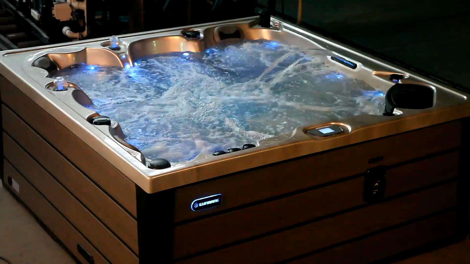 Sunrans Spa For 5 People Use Video Jacuzzi Outdoor Bathroom Design Luxury Hot Tub Swim Spa