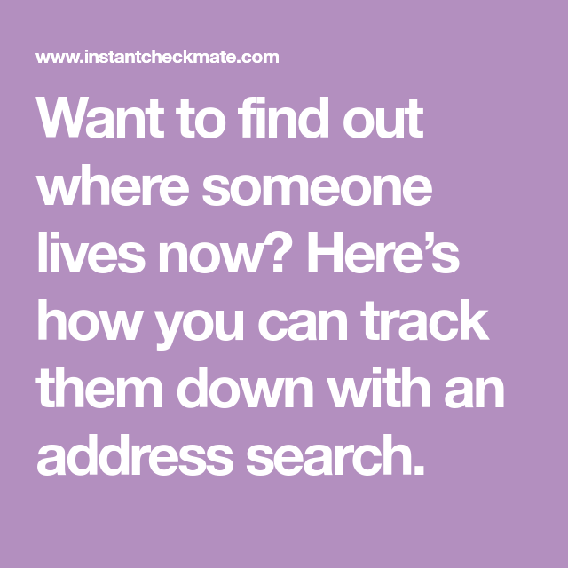How To Find Someone Address By Name Try An Address Search Address Search How To Find Out Search