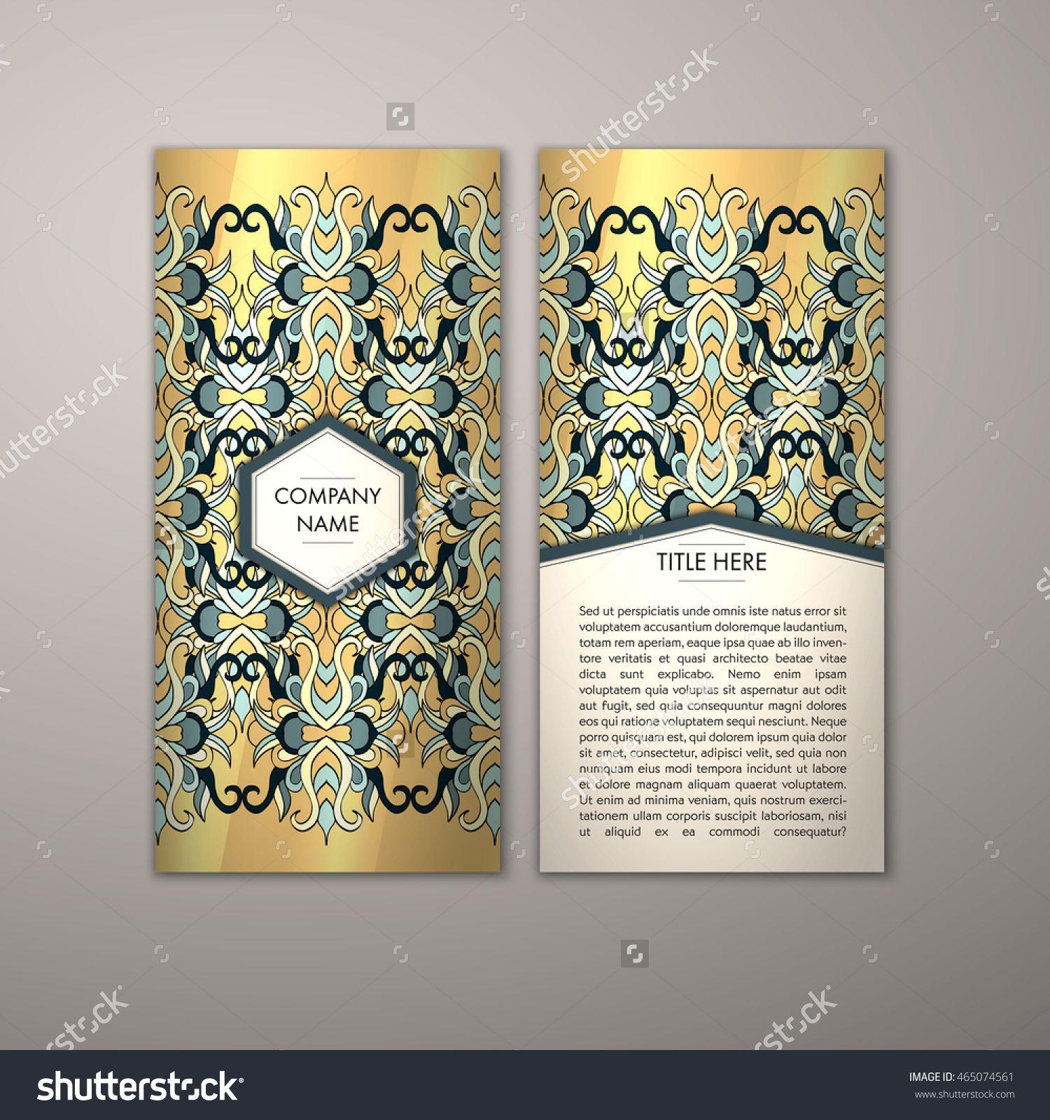 Flyer Template With Abstract Ornament Pattern Vector Greeting Card