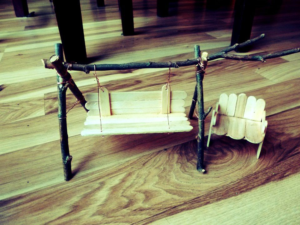 Fairy Swing And Chair Made Of Popsicle Sticks I Ll