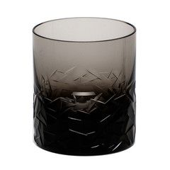 Moser Smoke DRIFT ICE DOUBLE OLD FASHIONED glass
