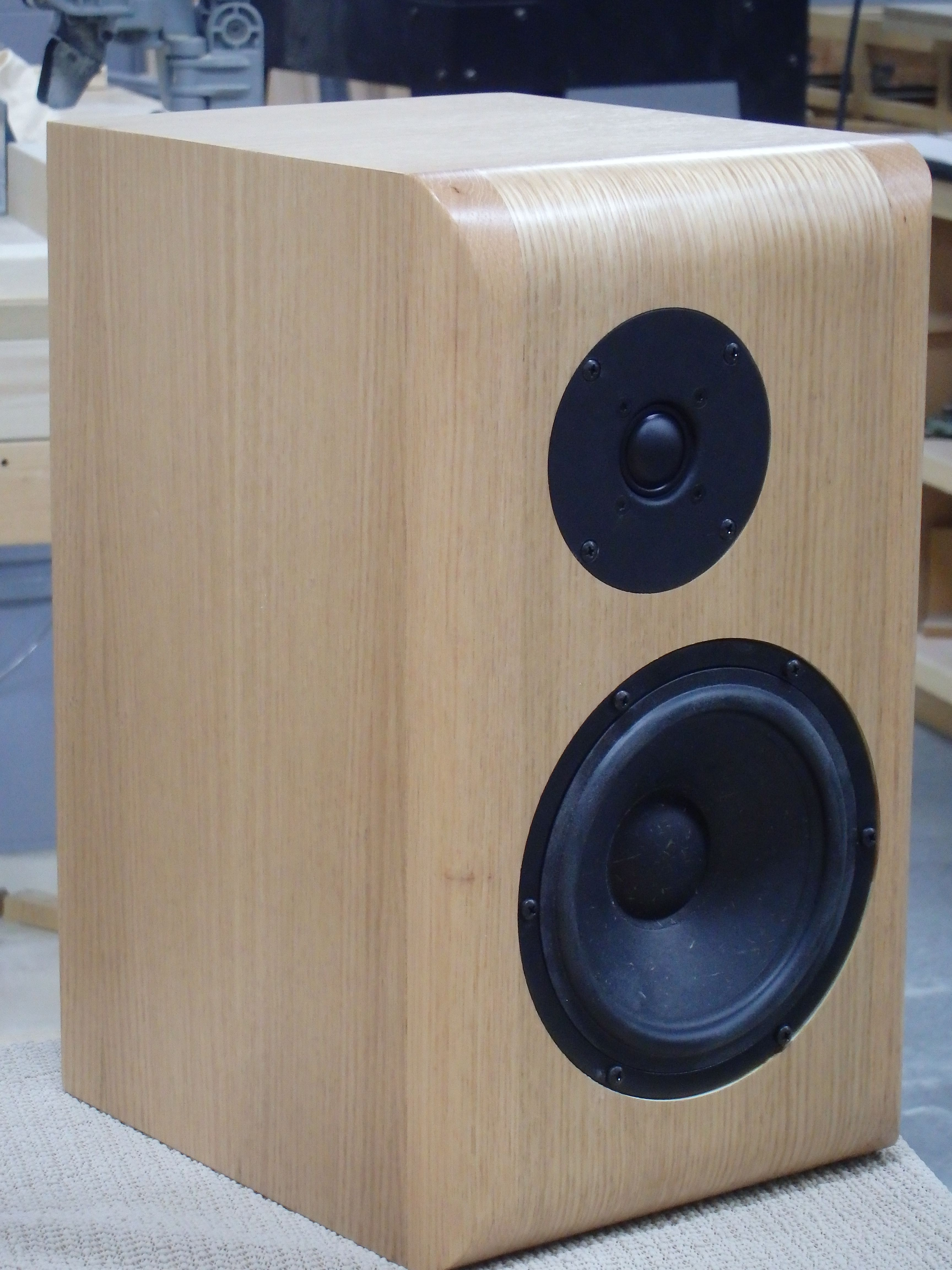 SR71 Diy speaker kit from Madisound  Nice sound from Seas drivers in