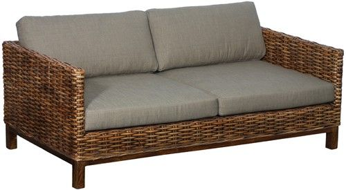 Hand Woven Rattan Sofa Antique Finish