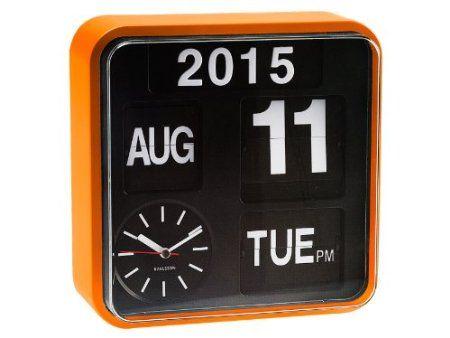 Karlsson KA5364OR Wanduhr Mini Flip orange, Ziffernblatt schwarz - wanduhr für küche