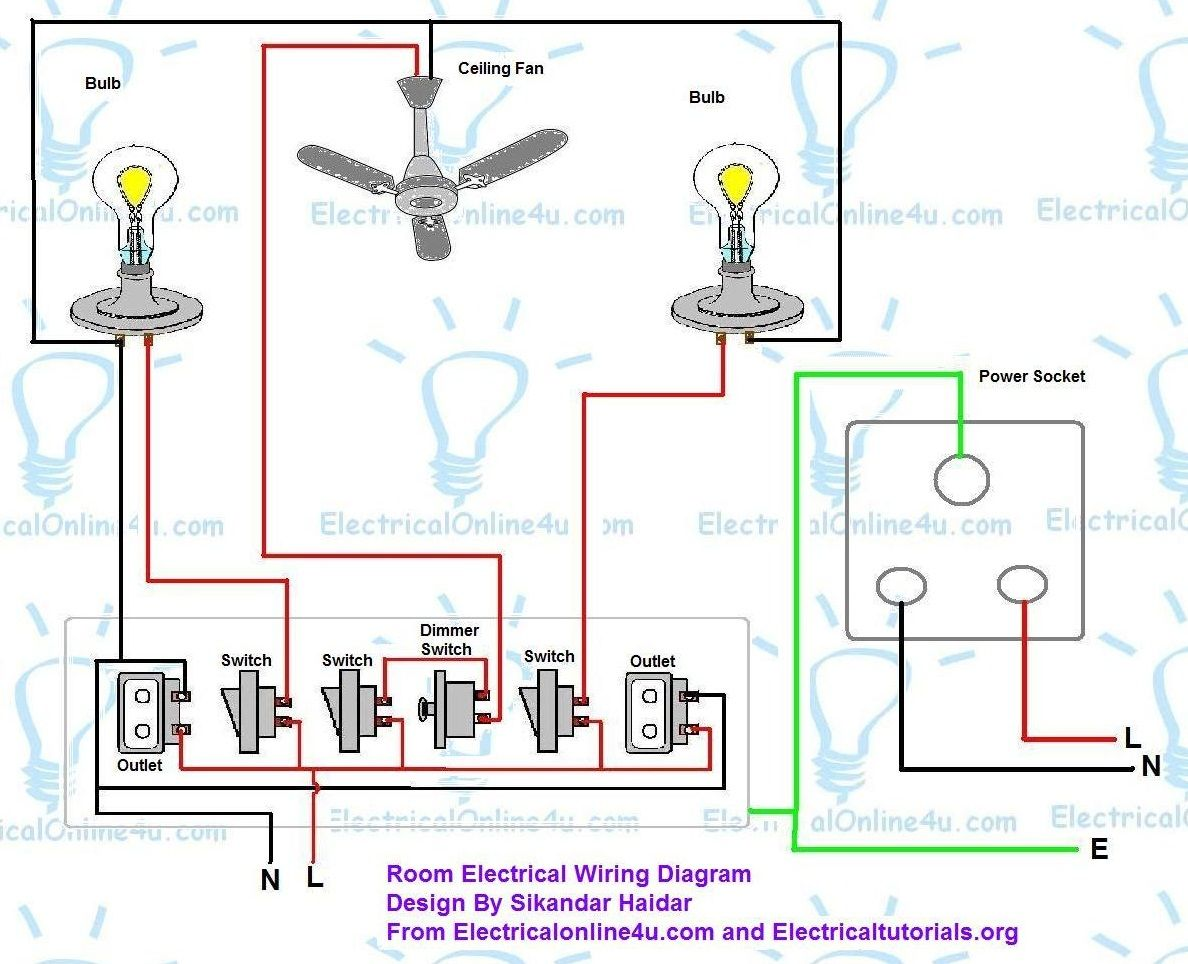 How To Wire A Room In House - Electrical Online 4u in 2020 | House wiring, Electrical  wiring diagram, ElectricityPinterest