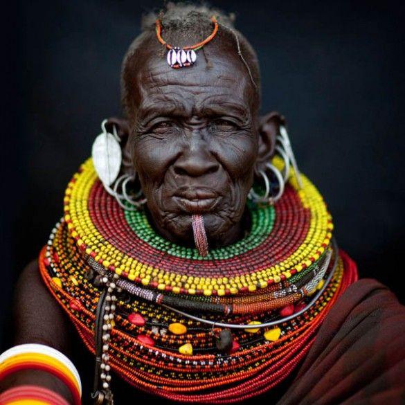 turkana, turkana tribe, kenya, turkana portraits, Eric Lafforgue ...