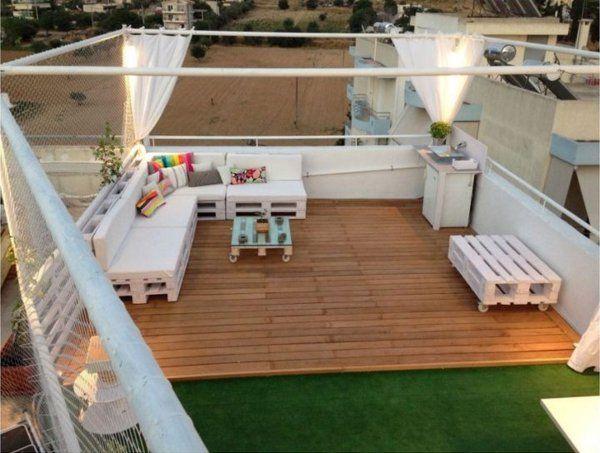 Daybed outdoor selber bauen  terrassenmöbel selber bauen aus paletten | DIY | Pinterest | Euro