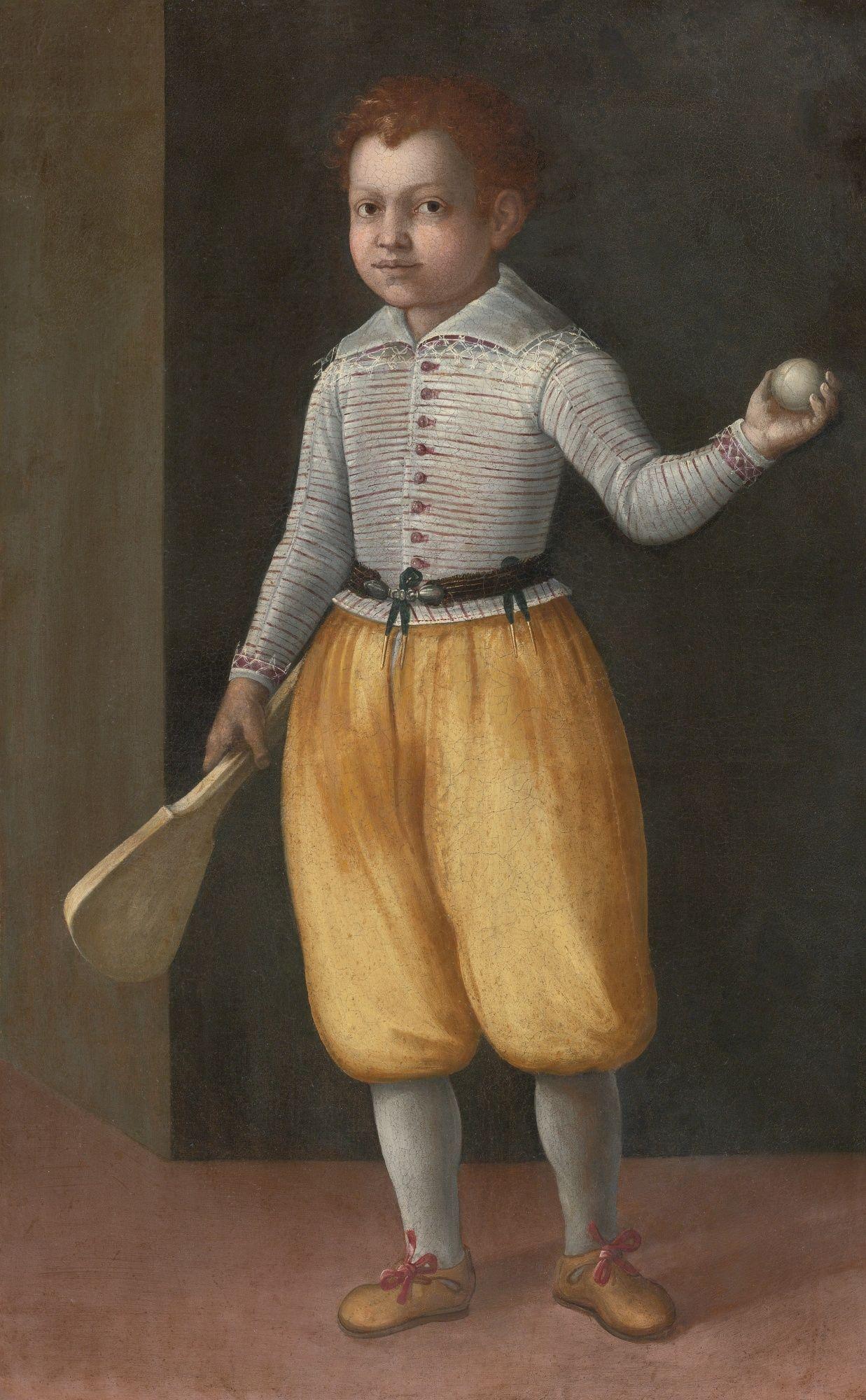 Boy with tennis racket ~ Cremonese School ~ late 16th century