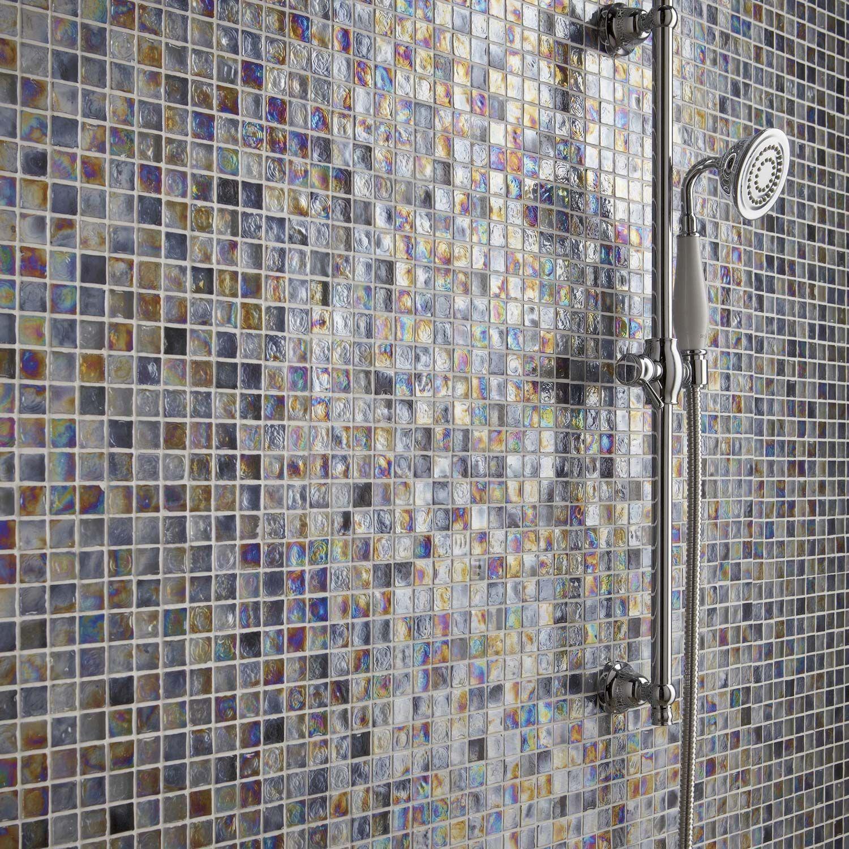 Mosaique Ice Flou Nacre 2x2 Cm Leroy Merlin Carrelage Mosaique Mosaique Carrelage Inox